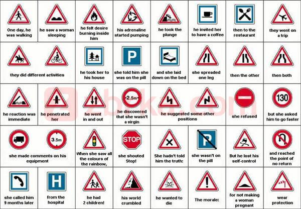 Slike - Smešne slike - Upoznavanje - Saobraćajni znaci Sve slike